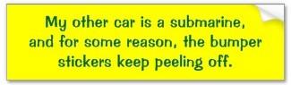 my other car 30 bumper sticker