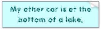my other car 33 bumper sticker